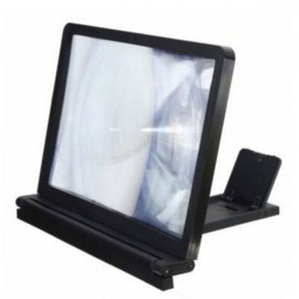 Portable 3D Cellphone Screen Magnifier 3X Zoom Magnifying HD Amplifier Black