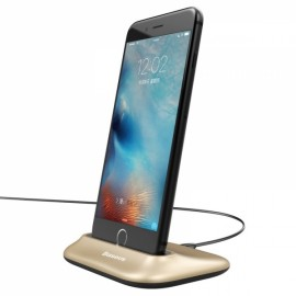 Baseus Desktop Charge Stand Dock Station Sync Date Charger for Apple iPhone Golden