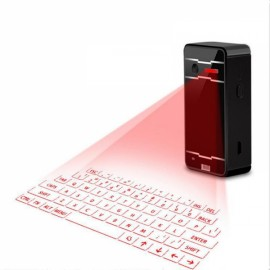 Bluetooth Virtual Laser Projection Keyboard & Mouse w/ Bluetooth Speaker Black