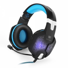 KOTION EACH G1000 Professional 3.5mm PC Gaming Bass Stereo Headset Gaming Headphone Black & Blue