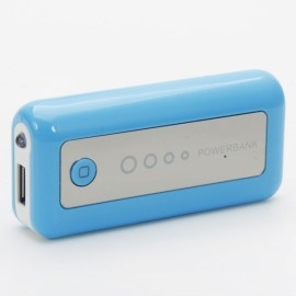 3000mAh Mobile Power Bank with LED Light Blue