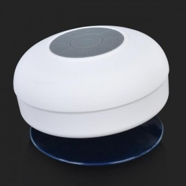 Mini Waterproof Handsfree Wireless Bluetooth Speaker with Sucker White