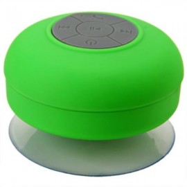 Mini Waterproof Handsfree Wireless Bluetooth Speaker with Sucker Green