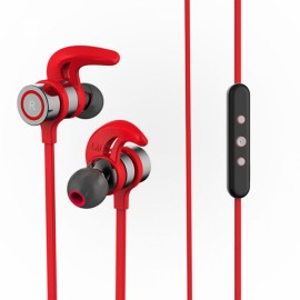 Wireless Hi-Fi Stereo Sound Headset Neck-strap & In-ear Hands-free Headphone Sports Music Earphone Red
