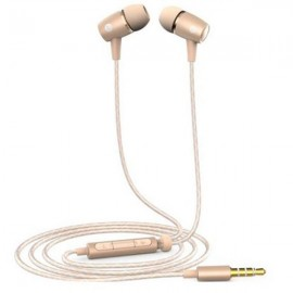 Original Huawei AM12 Plus In-Ear Earphones Built-in Mic Headphones Universal 3.5mm Jack Golden