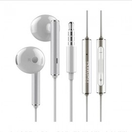 Original Huawei AM116 1.2M 3.5mm Jack In-Ear Style Earphone with Microphone Volume Control White & Silver