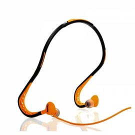 REMAX S15 In-Ear Sweat-proof Neckband Earphone with 30-Degree Rotating Earbud Black & Orange