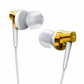 Remax RM575 Earphone In-Ear Stereo Headset with MIC Earbuds for iPhone iPad HTC Android Smart Phones Golden