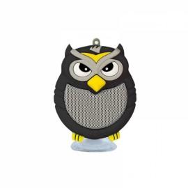 Owl Shaped Mini Bluetooth Speaker Stereo Heavy Bass Outdoor Loudspeaker with Sucker Phone Holder Black