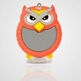 Owl Shaped Mini Bluetooth Speaker Stereo Heavy Bass Outdoor Loudspeaker with Sucker Phone Holder Orange