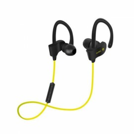 Wireless Sports Bluetooth Stereo Headset w/ Mic for iPhone Xiaomi iPad Yellow