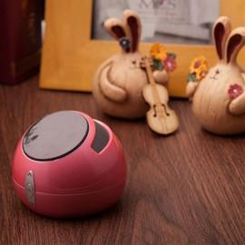 Bluetooth Speaker Stereo Sound Mini Anti-gravity Mobile Phone Holder Wireless Car Handsfree Call Music Player Amplifier FM Radio Pink