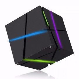 Magic Cube LED Light Wireless Stereo Bluetooth Speaker Subwoofer Card Qone Black