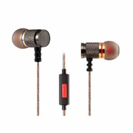 KZ-ED2 Gold Plated Heavy Bass Stereo In-ear Earphones for iPhone Samsung Xiaomi Huawei HTC ED Special Version Black with Mic