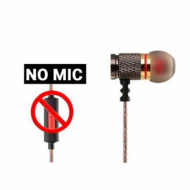 KZ-ED2 Gold Plated Heavy Bass Stereo In-ear Earphones for iPhone Samsung Xiaomi Huawei HTC ED Special Version Black