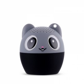 Ultra Mini Cartoon Cute Bluetooth Speaker Outdoor Music Bass Speakers Subwoofer Loudspeakers Support Phone Self Timer & Handsfree Mouse Gray