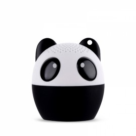 Ultra Mini Cartoon Cute Bluetooth Speaker Outdoor Music Bass Speakers Subwoofer Loudspeakers Support Phone Self Timer & Handsfree Panda Black & White