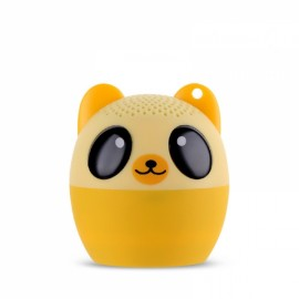 Ultra Mini Cartoon Cute Bluetooth Speaker Outdoor Music Bass Speakers Subwoofer Loudspeakers Support Phone Self Timer & Handsfree Bear Yellow