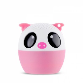 Ultra Mini Cartoon Cute Bluetooth Speaker Outdoor Music Bass Speakers Subwoofer Loudspeakers Support Phone Self Timer & Handsfree Pig Pink