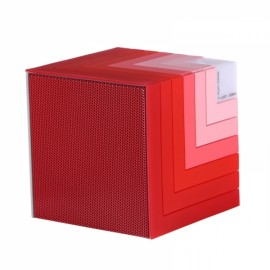 Funny Cubic Rainbow luminous Bluetooth Speaker LED flashing Light Stereo Wireless Subwoofer with Mic TF card/Aux-in Cube Speaker Red