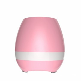 Smart USB Charge Bluetooth Music Flowerpot Electrostatic Induction Night Light Flower Pot Pink