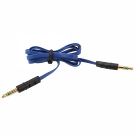 1m 3.5mm Audio Flat Male to Male Cable Extender Blue