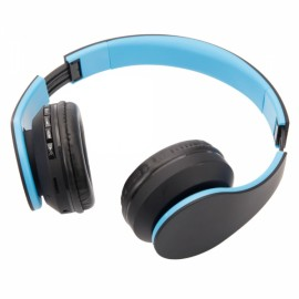 K-818 Multifunctional Stereo Wireless Bluetooth Headphone with Card Slot / FM Blue