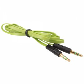 1m 3.5mm Audio Flat Male to Male Cable Extender Green