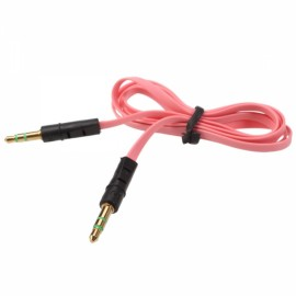 1m 3.5mm Audio Flat Male to Male Cable Extender Pink