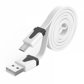 1M Noodle Flat Wire Data Cable Line V8 for Android Phone White