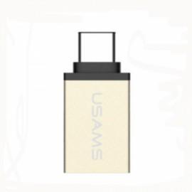 USAMS US-SJ021 Micro USB to Type-C Adapter Converter Golden