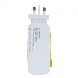 Universal 4 USB Ports 4A International Socket Travel Charger Socket UK Plug Green