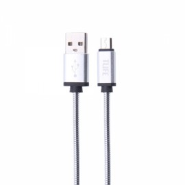 TLIFE 1M Micro USB Charger Data Sync Cable for Android Devices Silver