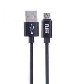 TLIFE 1M Micro USB Charging Data Cable Double Sided Reversible Black