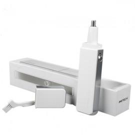 Pritech TN-188 Stainless Steel Blade Washable LED Light Nose Ear Hair Trimmer White