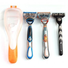 Men's Razor Blades Holder Manual Shaver Organizer Storage Box Orange