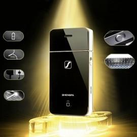 SHENGFA RSCW-2055 Phone Shaped Electric Rechargeable Reciprocating Men Shaver Razor Trimmer Black