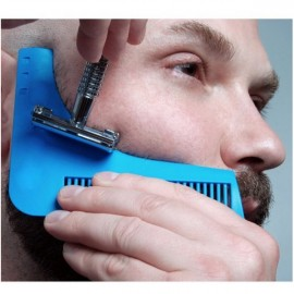 Beard Bro Beard Shaping Tool Sex Man Gentleman Beard Trim Template Blue