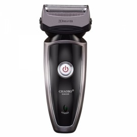 CHAOBO Rechargeable Electric Razor Shaver for man Double Edge with Pop-up Trimmer EU Plug