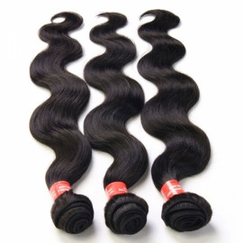 20 Inch Brazilian Virgin Hair Body Wave Hair Wig Natural Black