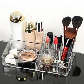 Woman Acrylic Cosmetic Organizer Clear Makeup Jewelry Cosmetic Storage Display Box Acrylic Case Stand Rack Holder Organizer Box Transparent