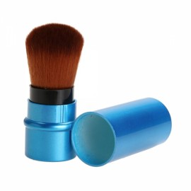 Metal Stretch Handle Makeup Brush Foundation Face Powder Cosmetic Blush Brush Blue