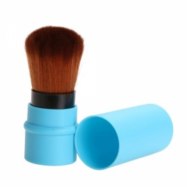 Plastic Stretch Handle Makeup Brush Foundation Face Powder Cosmetic Blush Brush Blue
