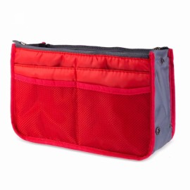 Large Travel Toiletry Organizer Storage Bag Wash Cosmetic Bag Makeup Storage Bag Red