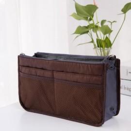 Large Travel Toiletry Organizer Storage Bag Wash Cosmetic Bag Makeup Storage Bag Coffee