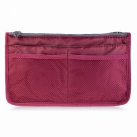 Large Travel Toiletry Organizer Storage Bag Wash Cosmetic Bag Makeup Storage Bag Wine Red