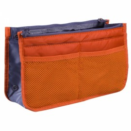 Large Travel Toiletry Organizer Storage Bag Wash Cosmetic Bag Makeup Storage Bag Orange