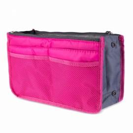 Large Travel Toiletry Organizer Storage Bag Wash Cosmetic Bag Makeup Storage Bag Rose Red