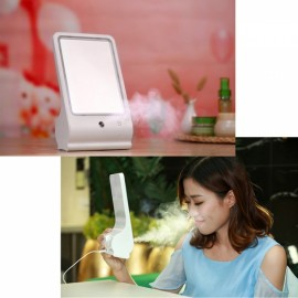 LED Makeup Mirror Nano Sprayer Facial Humidifier Woman Beauty Make Up Mirror White