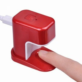 Portable 3W Mini LED UV Lamp Nail Dryer USB Charging Single Finger Nail Dryer Polish Light Manicure Machine Red